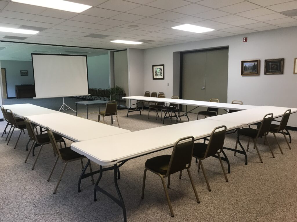 Business meeting set up at Headwaters Arts and Conference Center